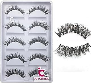 ICYCHEER Makeup False Eyelashes 5 Piars Popular Messy Eye Lashes Extension Long Thick Handmade Eyelash Cosmetics