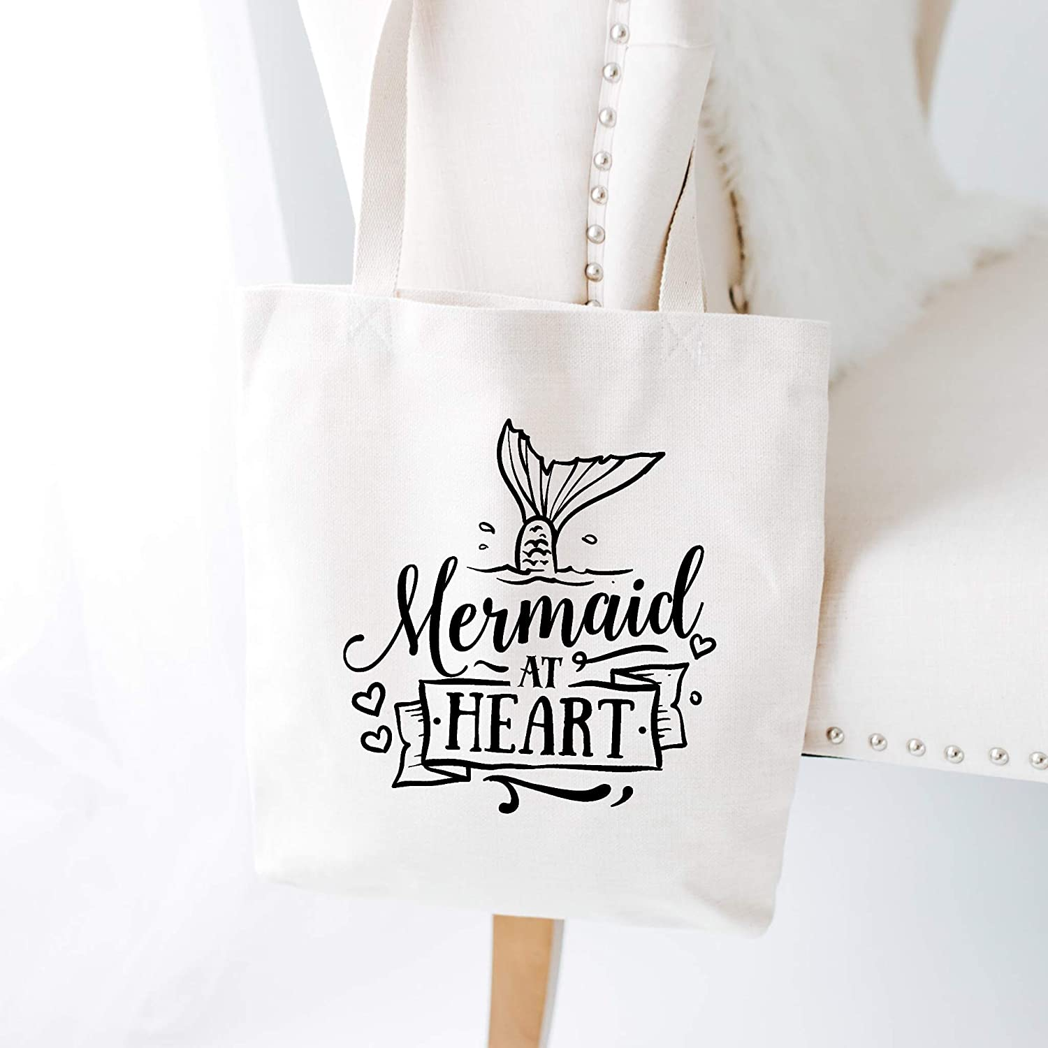 Mermaid at Heart Beach Tote Bag New Free Shipping Easy-to-use