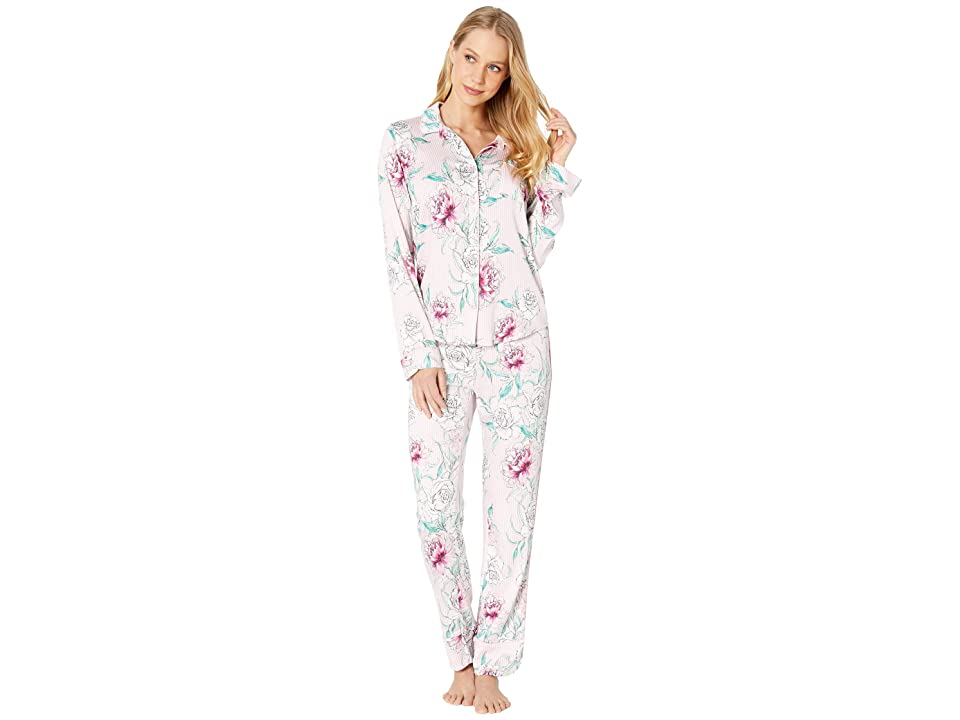 P.J. Salvage Floral PJ Set (Pale Pink) Women