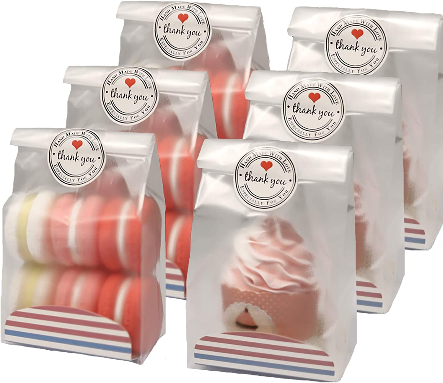Max 72% OFF Ranking TOP2 SAILING-GO 48 pcs. Pack Translucent Bags Cookie Plastic for Cupc