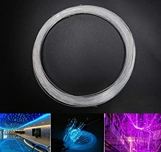 AZIMOM PMMA Plastic End Glow Fiber Optic Cable 1mm(0.04in)50m(164ft)/Roll for Star Sky Ceiling All Kind Led Light Engine Driver Source