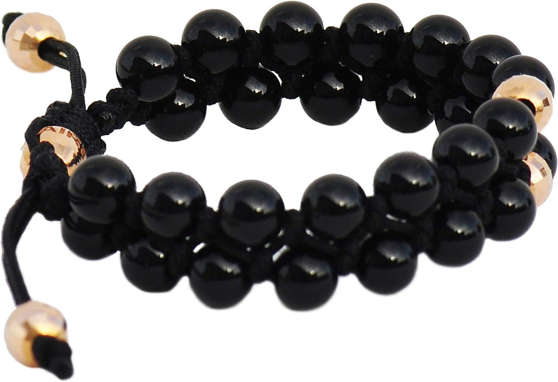 Chris Aire Authentic Designer - Gold and Bead Bracelet 1 Black 送料無料 百貨店 新品