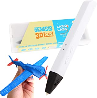 Genesis 3D Printing Pen - Supports PCL and PLA Filaments, Easy to Use and Operate (Pearl White)