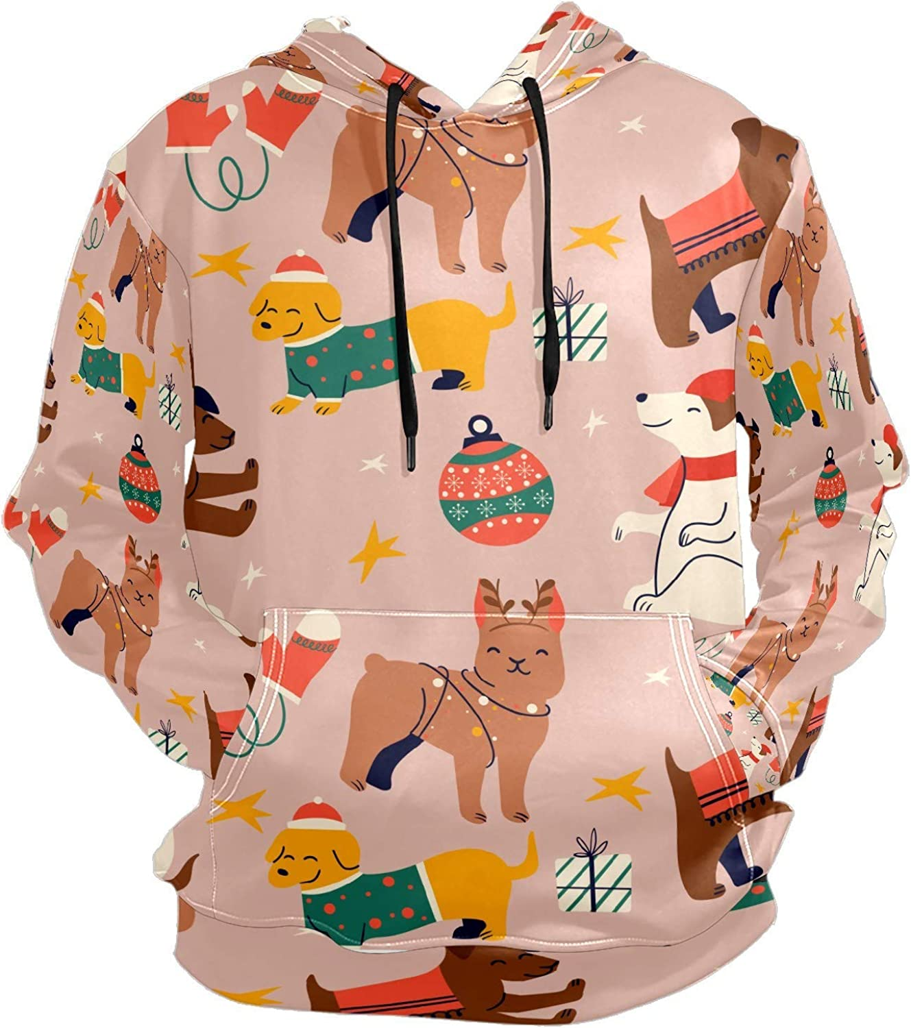 Cute Dog Funny Animals Mens Sport Hoodie Big and Tall Hoodies for Men Women Oversized Hooded Sweatshirt Hip Hop Pullover Hoodie Midweight Hood for Boys Girls