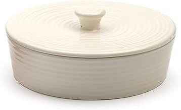 RSVP International (MAIZ-W) White Stoneware Tortilla Warmer & Server, 8.5