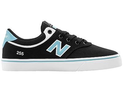 New Balance Numeric 255 (Little Kid/Big Kid) (Black/Blue) Men