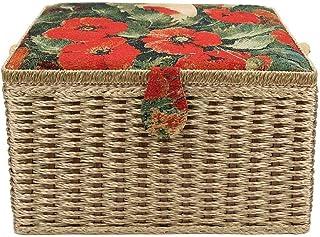 大容量 ソーイングボックス 裁縫箱 裁縫バッグ 裁縫セット 針糸ボックス ソーイングセット 裁縫道具 収納 2層 マグネットスナップ 防塵 防湿 防虫