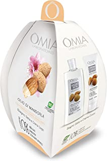 Omia - Ovetto Corpo Olio di Mandorla, Contiene Bagnoschiuma e Crema Corpo, Idratante, Emoliente e Rigenerante, Dematologic...