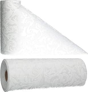 AmaCasa Chemin de table ornemental imperméable   Non tissé Lotus lavable   23 cm/20 m ou 30 cm/20 m décoratif pour cuisine...