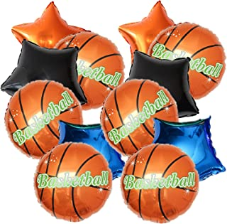 12PCS Basketball Foil Balloons And Star Shape Balloons -Basketball Themed Party Supplies Decorations Baby Shower Sport Wed...