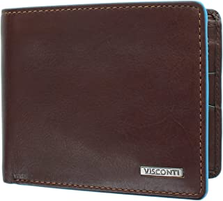 Visconti Alps Collection OZWALD Bi-Fold Leather Wallet - RFID Protected - ALP85 Brown