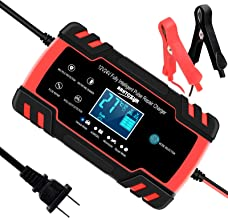 SUHU Car Battery Charger, 12V/8A 24V/4A Smart Automatic Battery Charger Maintainer Trickle Charger for Car Truck Motorcycl...