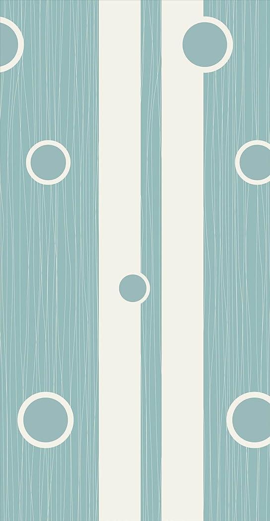 うなる正確に生じるポスター ウォールステッカー 長方形 シール式ステッカー 飾り 90×47cm Lsize 壁 インテリア おしゃれ 剥がせる wall sticker poster チェック?ボーダー 水色 模様 ストライプ 008689