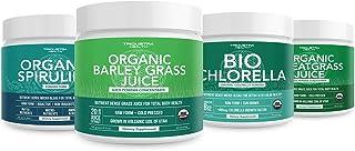 Organic Spirulina Powder, Organic Chlorella Powder, Organic Wheatgrass Juice Powder, Organic Barley Grass Juice Powder