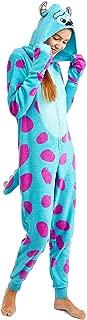 Disney Women's Faux Fur Licensed Sleepwear Adult Costume Union Suit Pajama (XS-3XL) Sully 2 L