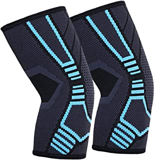 Elbow Compression Sleeve - 1 Pair Elbow Support Wrap for Men Women, Ideal for Gym Tendonitis Tennis Golf Basketball Crossf...