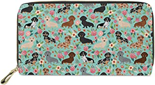 DEZIRO Cats And Poppies Lady Purse Zip Around Credit Card Case