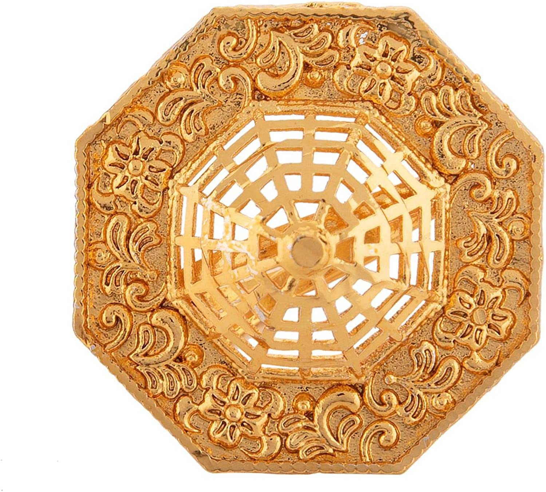 Efulgenz Antique Boho Indian Bollywood Gold Plated Floral Adjustable Statement Big Finger Rings Jewelry