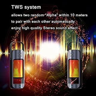 wireless speaker flame LED night light & TWS function with wireless charger support TF card and USB