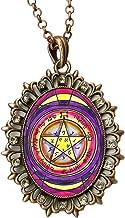Solomons 2nd Seal of Venus for Grace & Honor Huge Antique Copper Medallion Rhinestone Pendant