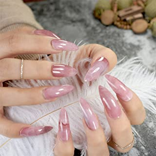Extra Long Nails Bent Press On Nails Long Nails Including Glue Sticker Z753