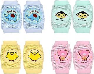 4pares Rodilleras para Bebés Rodilleras Antideslizantes Bebe Protector de Rodilla de Seguridad Verano Baby Knee Pads para Gatear Recién Nacido Calentadores de Piernas Niño Pequeño Unisex