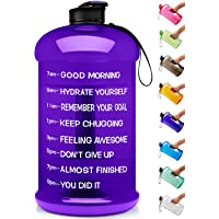 Venture Pal 74oz Leakproof BPA Free Fitness Sports Water Bottle with Motivational Time Marker