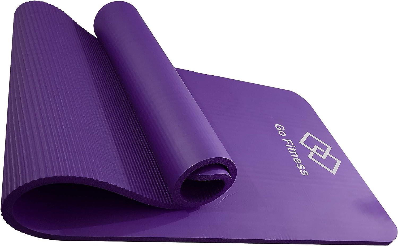 Classic Pro Yoga Mat TPE Eco Friendly Non Slip Fitness Exercise Mat Pilates and Gymnastics 183 x 61 x 1CM Go Fitness Yoga Mat