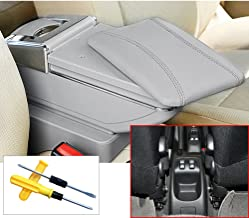 MyGone for 2006-2013 Peugeot 206 207 Car Interior Accessories Center Consoles Armrest Box,Large Storage Space,Provide arm Rest Place,Removable Ashtray, with Cup Holder,Gray(a Free Tool)