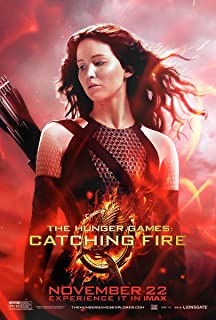 Movie Poster The Hunger Games 2 : Catching Fire (2013) - Katniss Red - 13 in x 19 in Flyer Borderless + Free 1 Tile Magnet