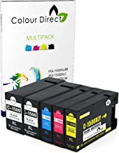 Colour Direct 5 (1 Set+ 1 Negro) PGI-1500XL Compatible Cartuchos de Tinta Reemplazo para Canon MAXIFY MB2050, MB2350 Impresoras.