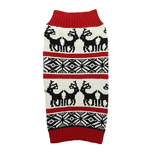 Lanyar Dog Reindeer Holiday Pet Clothes Sweater for Dogs Puppy Kitten Cats f6217f570
