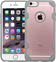 MyBat Cell Phone Case for Apple iPhone 6S Plus/6 Plus - Retail Packaging - Transparent/Deep-Grey