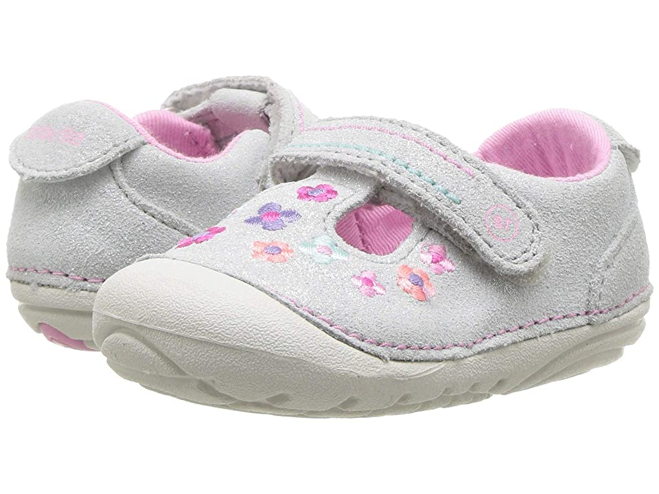 Stride Rite SM Tonia (Infant/Toddler) (Silver Suede) Girl