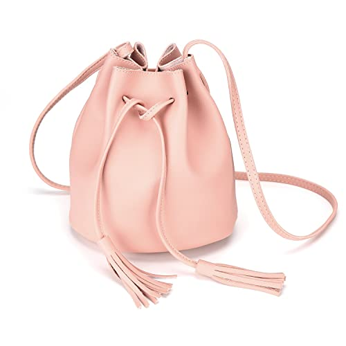 e3ef14d6ab48 Crossbody Handbags Drawstring Bucket Bag for Women Shoulder Bag Purse Tote  PU Leather Bags