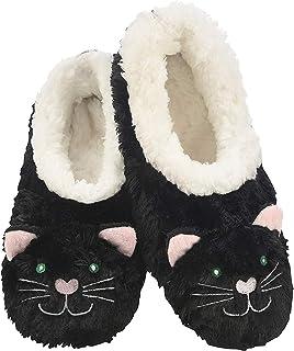 Snoozies Womens Animal Heads Sherpa Plush Fleece Lined Slipper Socks