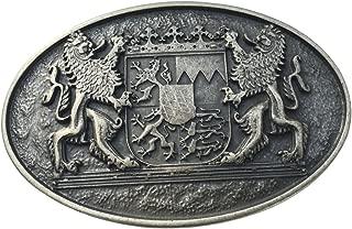 Buckle Wechselschlie/ße G/ürtelschlie/ße 40mm Massiv f/ür Lederhose Dirndl Tracht Brazil Lederwaren G/ürtelschnalle Ornamente 4,0 cm Dorn-Schlie/ße
