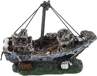 WEIWEITOE Pirate Ships In Aquariums Acuario Paisaje Decoración Accesorios para acuarios Pecera Acuario Adorno para Barcos
