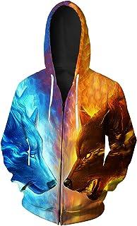 3ed7ac0445 GLESTORE Sweat-Shirt à Capuche Homme Manches Longues Hiver Slim Fit Noir  Bleu Marron