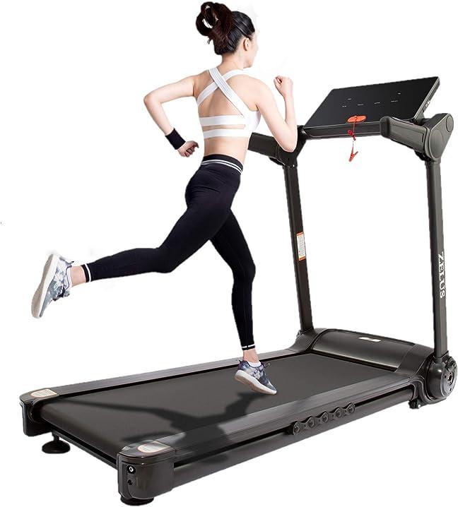 Tapis roulant pieghevole elettrico treadmill professionale velocità regolabile 12 programmi - z zelus B08NPQZGMR