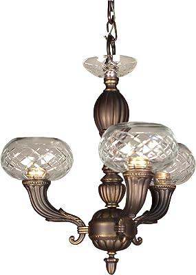 Classic Lighting 57323 RB Chatham, Cast Brass, Chandelier, Roman Bronze