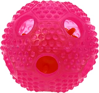 VILLCASE Dog Toy Ball Non Toxic Bite Rubber Ball Interactive Dog Toy Pet Food Treatment Feeders Chewing Teeth Cleaning Bal...