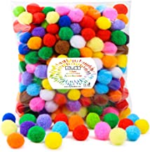 Caydo 300 Pieces 1 Inch Assorted Pompoms Multicolor Arts and Crafts Pom Poms Balls for Christmas DIY Art Creative Crafts Decorations