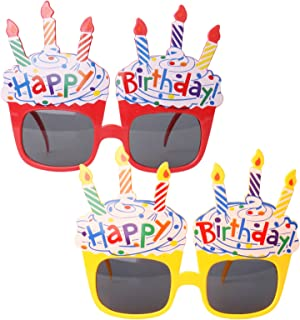 Funny happy birthday glasses for kids and women, 2 packs