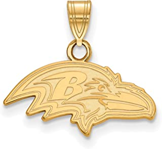 Gold Plated Baltimore Ravens Small Pendant for Chain, Necklaces and Bracelets