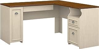 Bush Furniture Fairview L Shaped Desk in Antique White