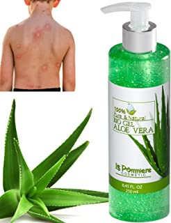 Le Pommiere Bio Gel Aloe vera puro 250ml hidratante natural. Refresca la piel irritada por el depilado y afeitado. Ideal p...
