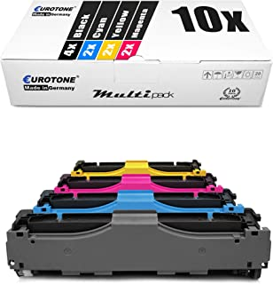 10x Müller Printware kompatibler Toner für HP Color Laserjet Pro MFP M 476 dw nw DN ersetzt CF380X 83A 312A 312X