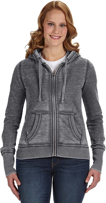 J. America womens Ladies Zen Full Zip Hooded Sweatshirt