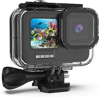 Kupton Vattentätt hölje för GoPro Hero9 svart, 60 m, undervattensfodral, med hållare, tillbehör för GoPro Hero 9 New Hero ...